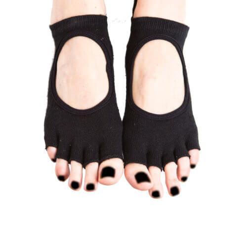 Grippy Black Yoga Socks