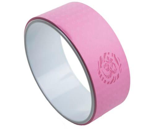rueda yoga rosa