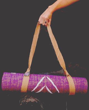 Carrying Jute Yoga mat strap