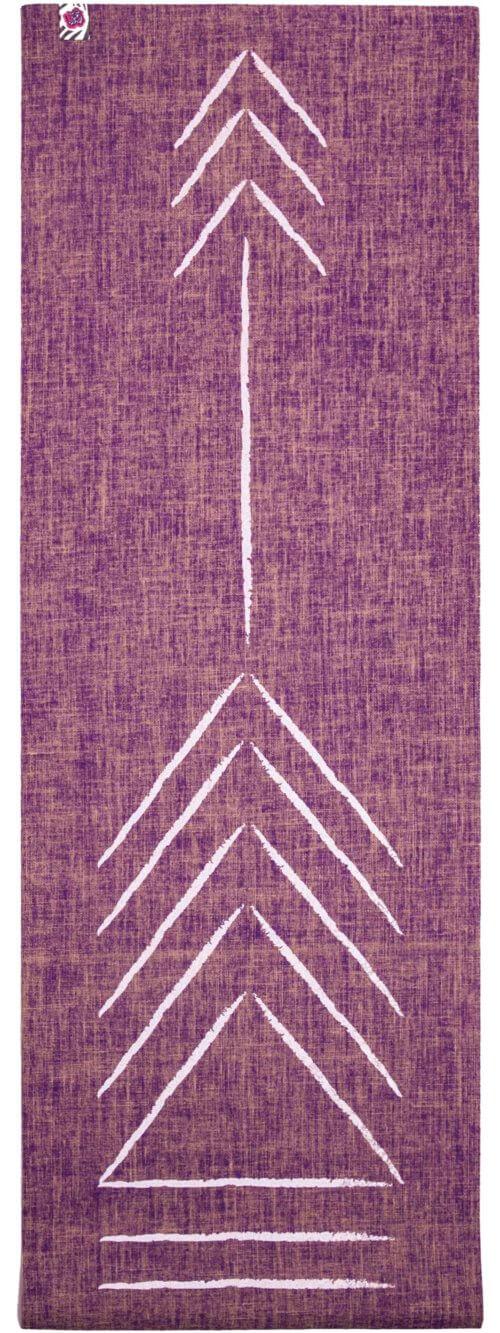 purple jute yoga mat