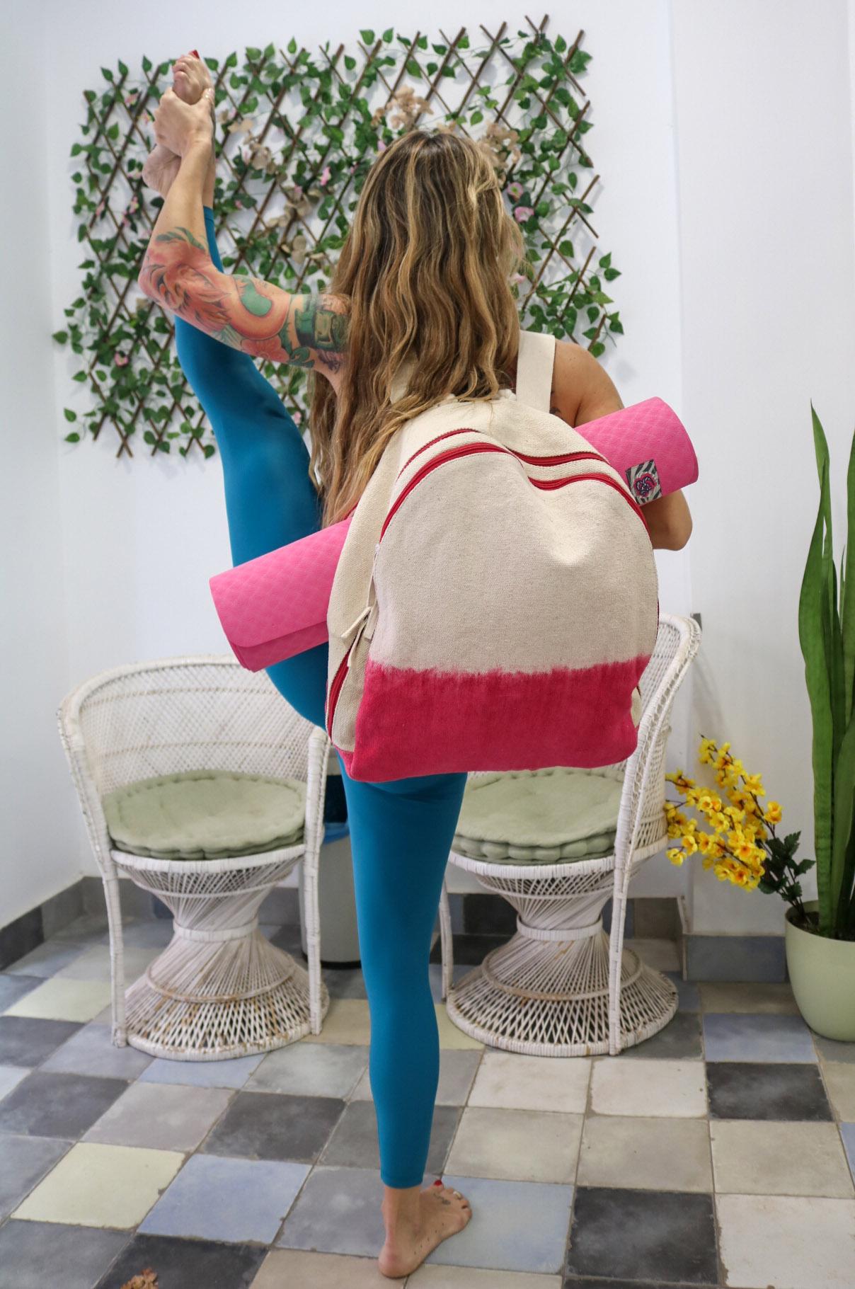 mochila de yoga